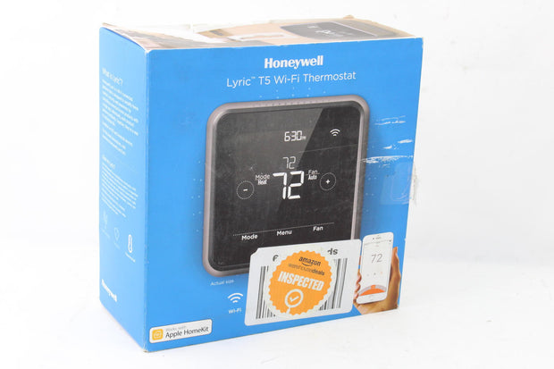 Honeywell RCHT8610WF2006 Lyric T5 Wi-Fi Smart 7 Day Programmable Touchscreen T.. - Very Good