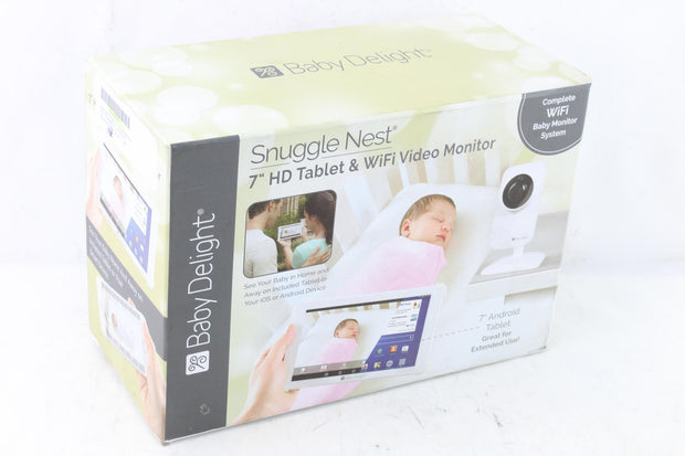 "Baby Delight Snuggle Nest 7"" HD Tablet and WiFi Video Baby Monitor - Like New"