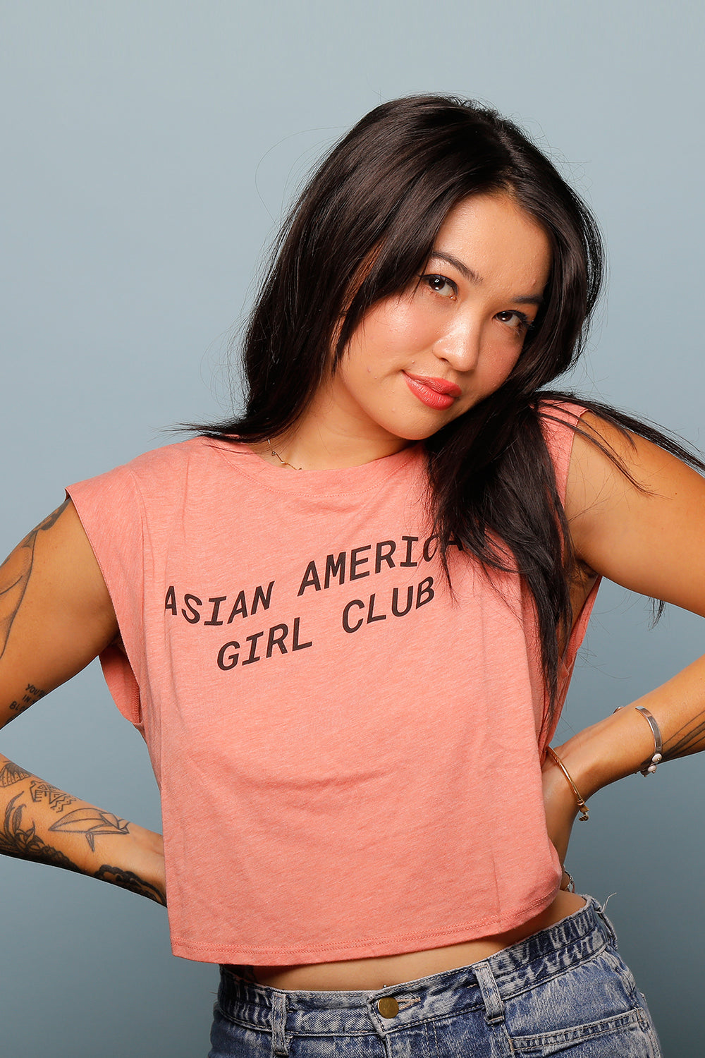 ASIAN AMERICAN GIRLS CLUB CROPPED TANK