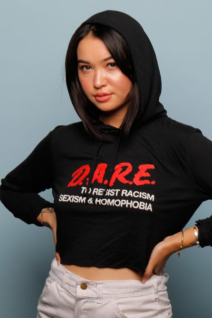 DARE CROPPED HOODIE