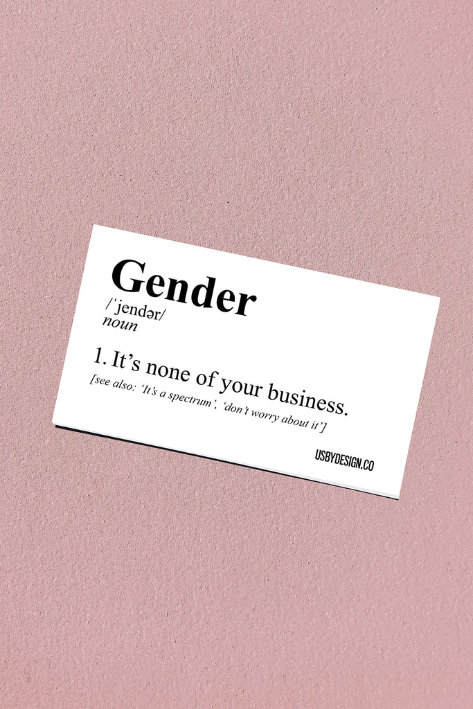 GENDER DEFINITION STICKER