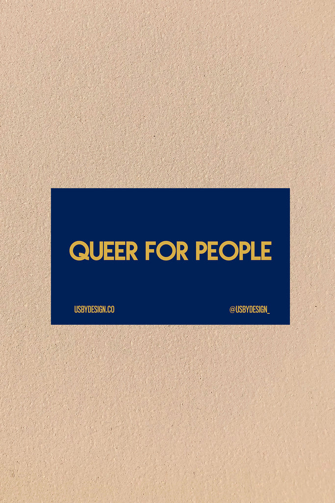 QUEER FOR PEOPLE STICKER