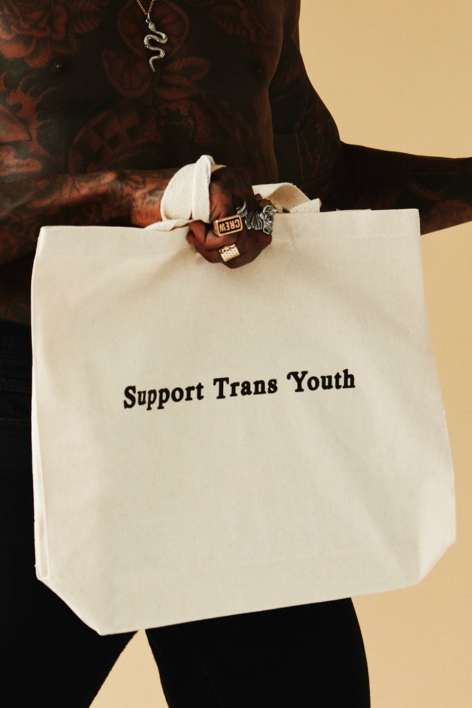 SUPPORT TRANS YOUTH TOTE BAG