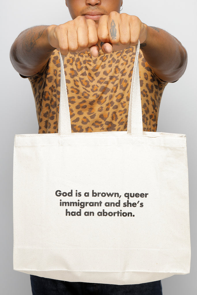 GOD'S ABORTION TOTE BAG