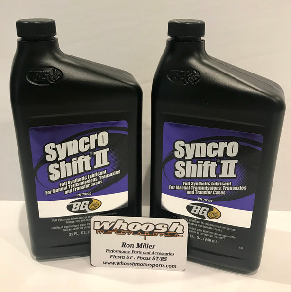 BG Syncro Shift II Synthetic Gear Lubricant - 2014+ Fiesta ST transmission oil service kit