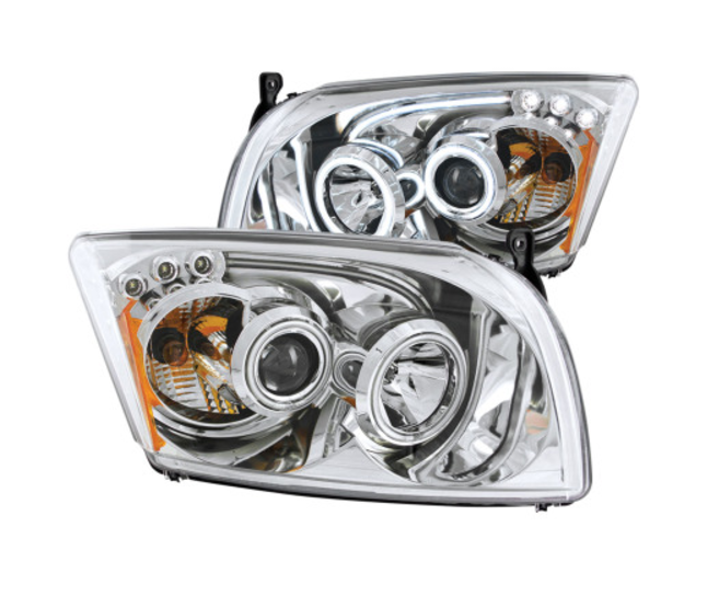ANZO 2007-2012 Dodge Caliber Projector Headlights w/ Halo Chrome (CCFL) *FREE SHIPPING*