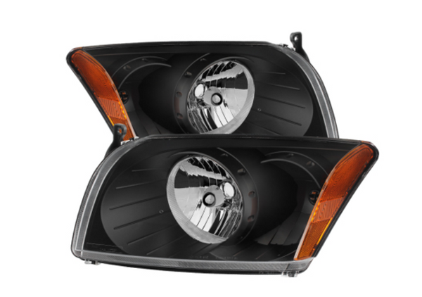 2007 and up Xtune Dodge Caliber Crystal Headlights -Black *FREE SHIPPING*
