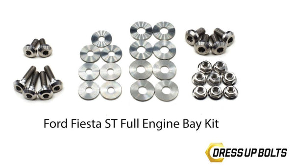 Dress Up Bolts Fiesta ST 2014+ Titanium engine bay dress up bolt kit *many colors available!*