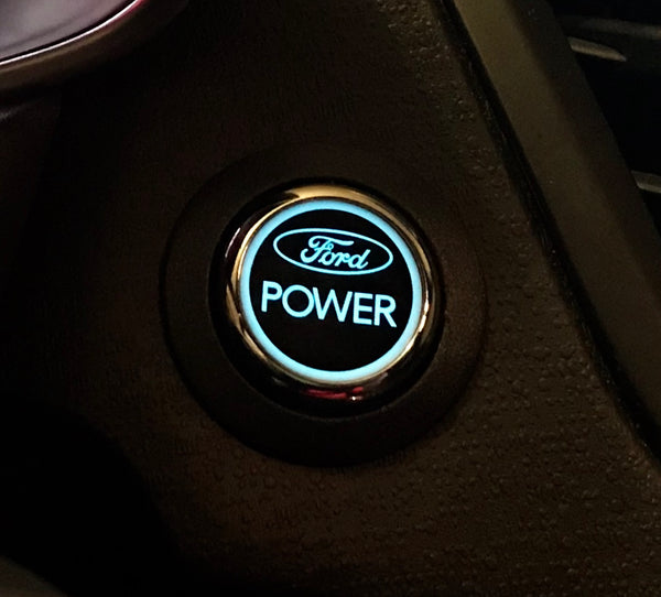 Ford Power Ignition Start Button Ford Fiesta / Focus ST (BLUE Light)