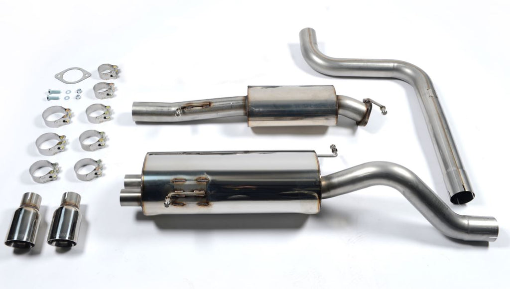 "Milltek 2.75"" Race cat back exhaust system  (resonated)  *4 tip styles available!*"