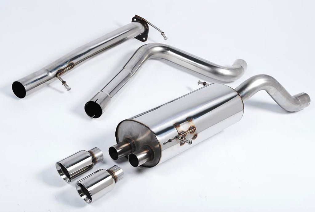 "Milltek 2.75"" Race cat back exhaust system (non-resonated)  *4 tip styles available!*"