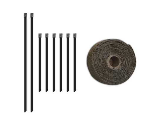 exhaust heat wrap set (titanium)