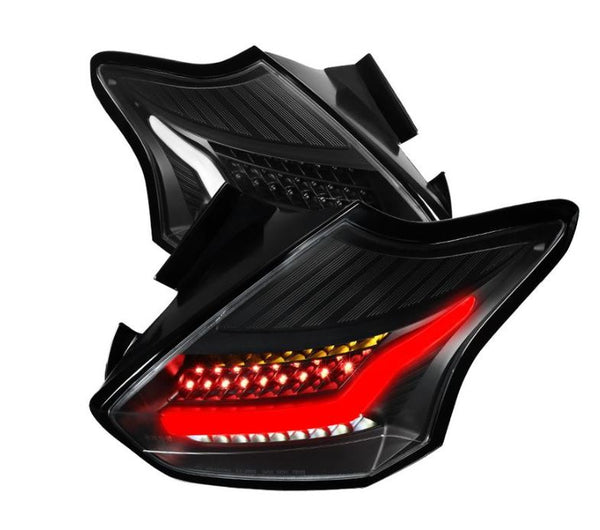 Spec-D LED Tail Lights Ford Focus SE/ST/RS (15-18) Black, Smoke, Red or Clear