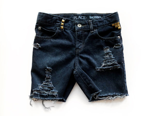 Boys Distressed & Dyed Denim Cutoffs