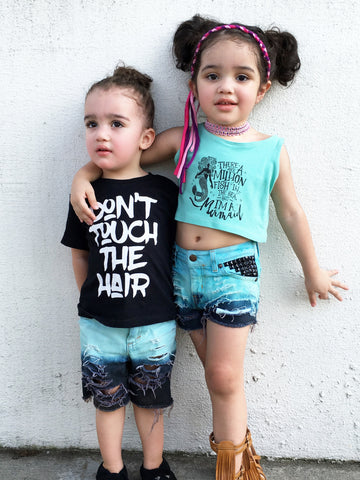 Poseidon Girl Shorties and Boy Cutoffs