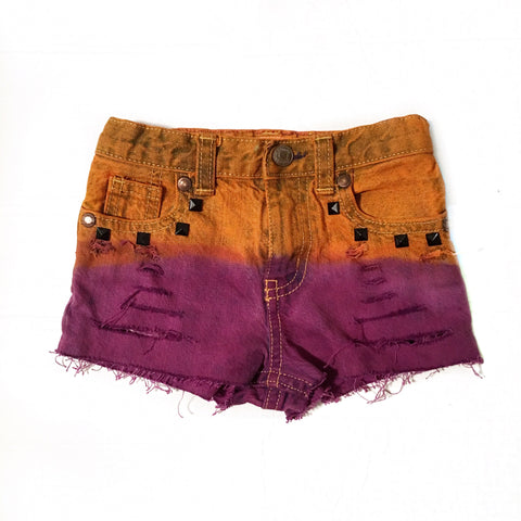 Hocus Pocus Distressed and Dyed Shorties