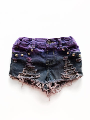 Maleficent Distressed Denim Shorties