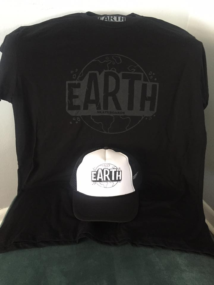 Combo- Black EARTH shirt and Trucker Hat