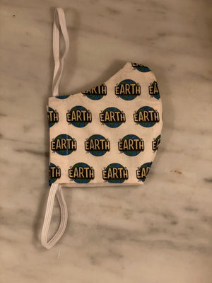 Cloth Face Mask w/ Earth Full Color Logos