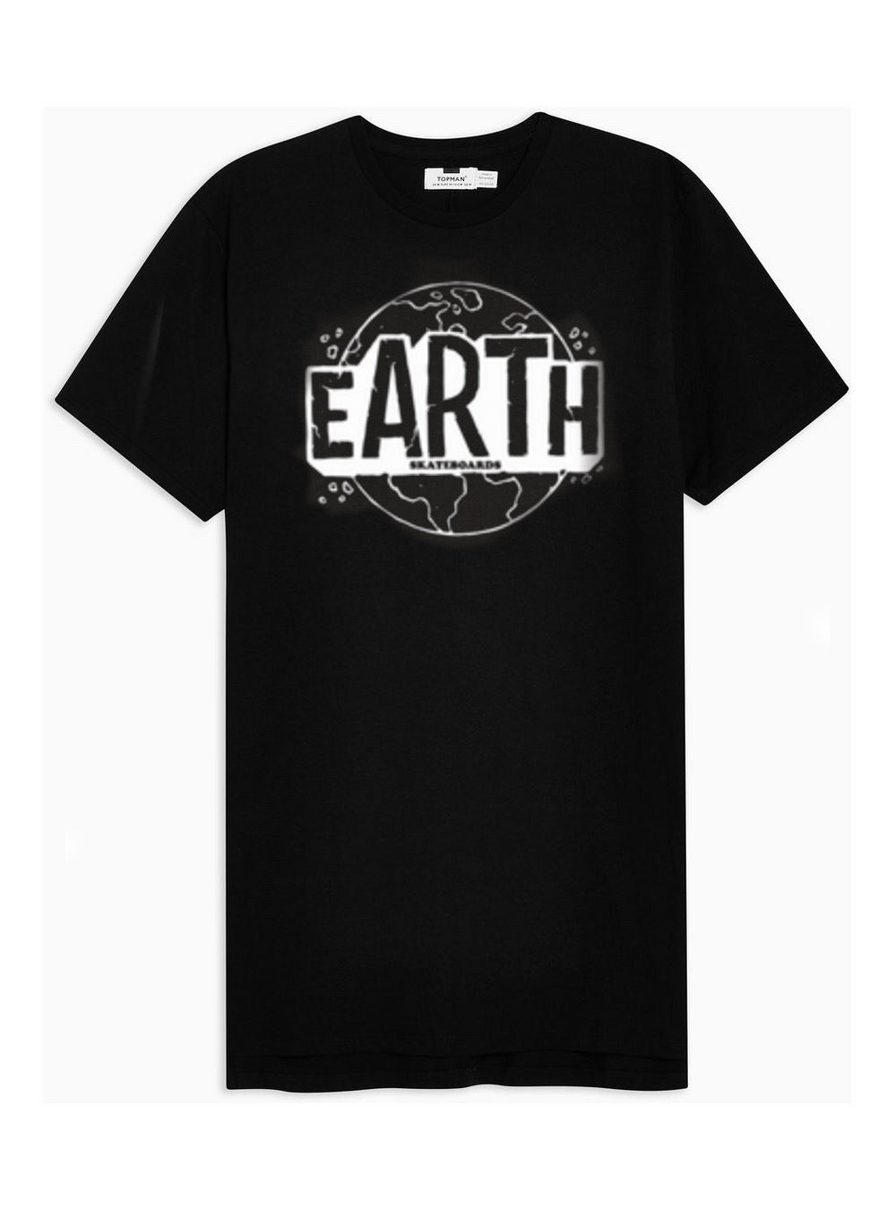 Black EARTH T-Shirt w/ White Logo (SoftStyle - Ring Spun)