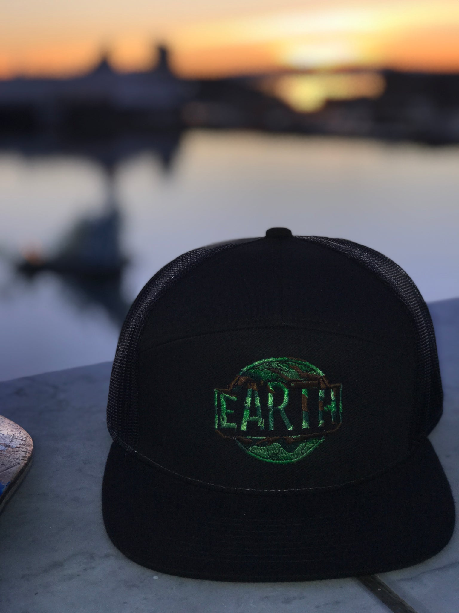 Earth Hat - Black Camo
