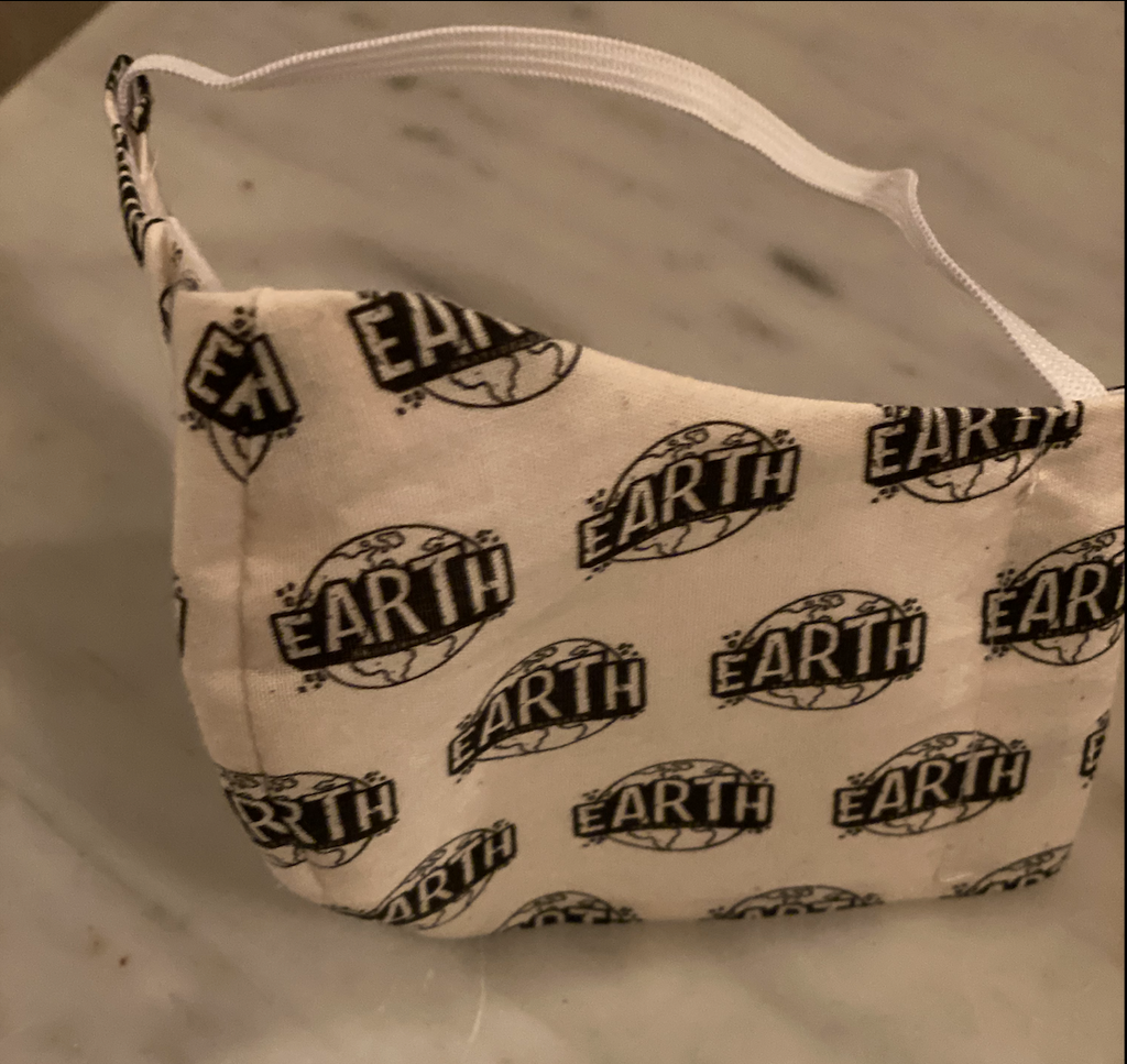 Cloth Face Mask w/ Earth B&W Logos