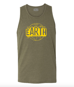 Mill Green Tank Top - Yellow Logo