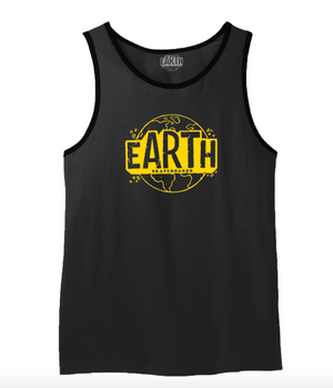 Black Tank Top - Yellow Logo
