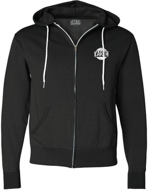 Black Earth Hoodie - White Logo