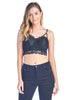 Women' s One Size Lace Cami Semi Sheer Removable Padding Bustier Bralette Corset Crop Top