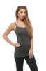 Plain Spaghetti Strap Plus Size Regular Length Tank Top