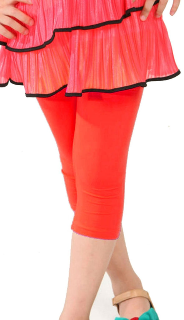 Hollywood Star Fashion Khanomak Kids Girls Capris Crop Cotton Leggings Tights Pants (Sizes 2T- 12 yrs)