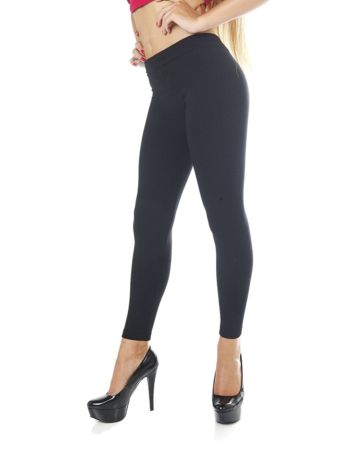 full length leggings with faux fur inside Plus size (One size)