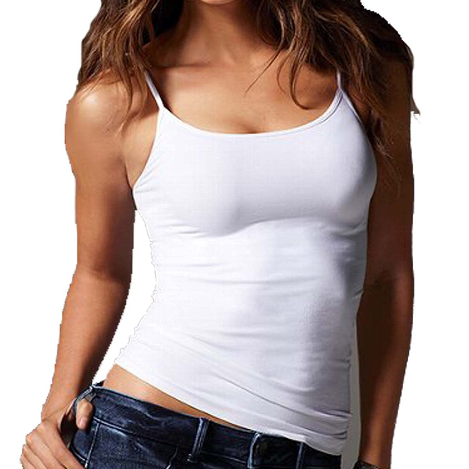 Hollywood Star Fashion Regular Length Spaghetti Strap Tank Top Plus Size