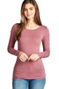 Women's Basic Long Sleeve Crewneck T-Shirt Basic Cotton Tee Top