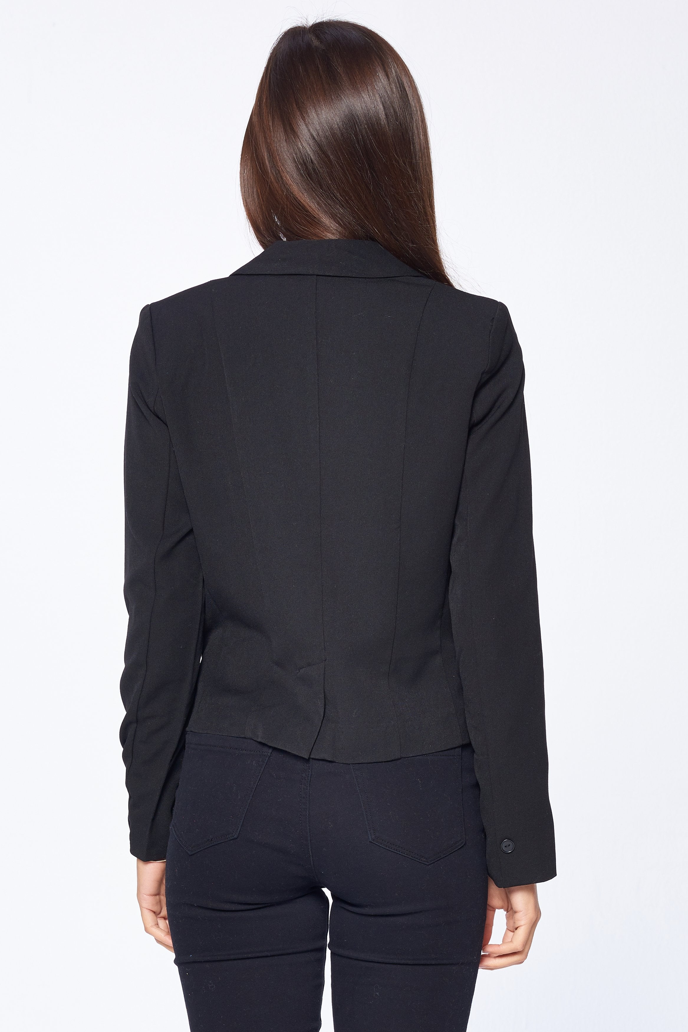 Khanomak Women's Long Sleeve Single Breasted Blazer Jacket