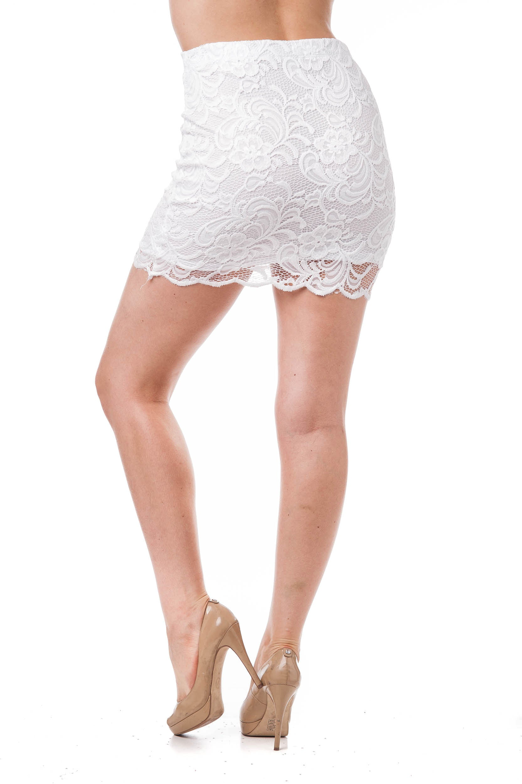 Crochet Floral Mini Lace Skirt