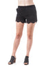 100% Cotton Crochet Lace Up Front Elastic Waist Shorts