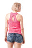 Active Wear Mesh Contrast Racer Back Sleeveless Tank Top