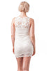 Sleeveless Lace Crochet Double Layer Bodycon Dress
