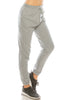 Women's Basic Elastic Waist Cuffed Ankle Fleece Jogger pants