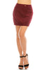 Women's High Waist Curvy Corduroy A Line Zip Up 5 Pockets Mini Skirt