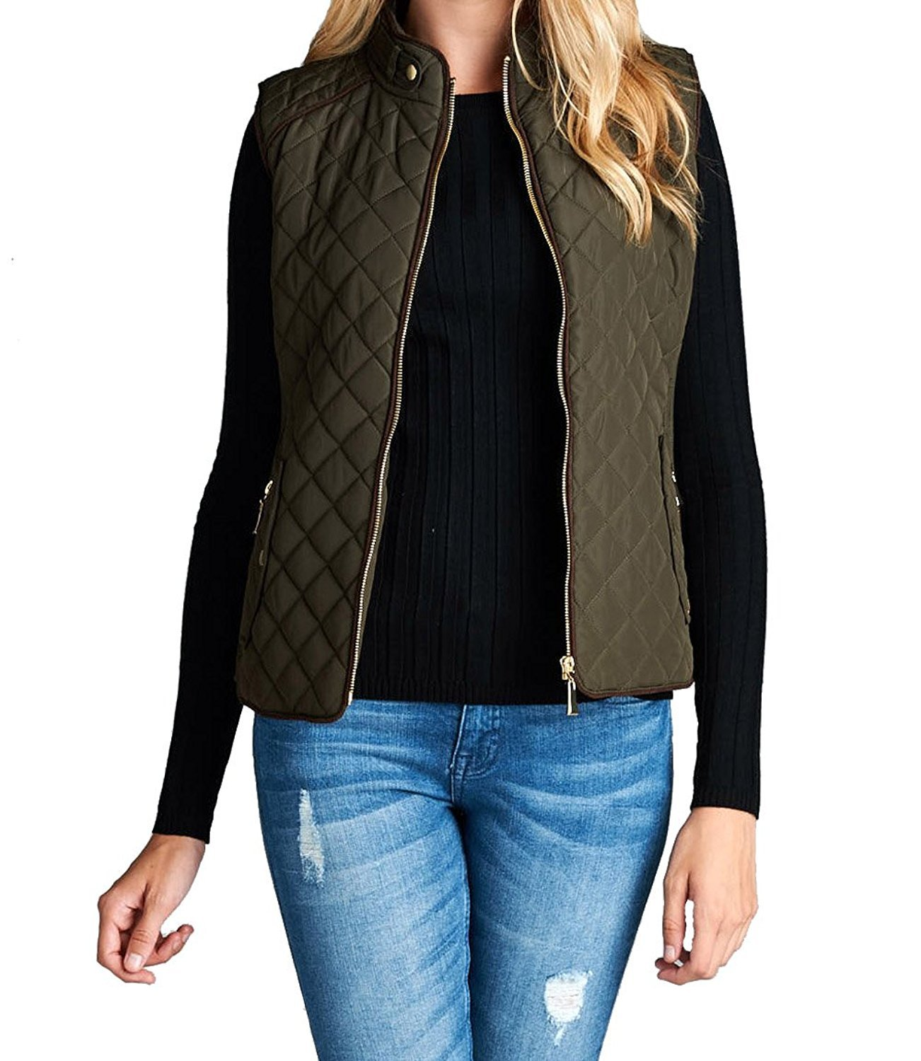 Women's Quilted Vest Jacket Coat