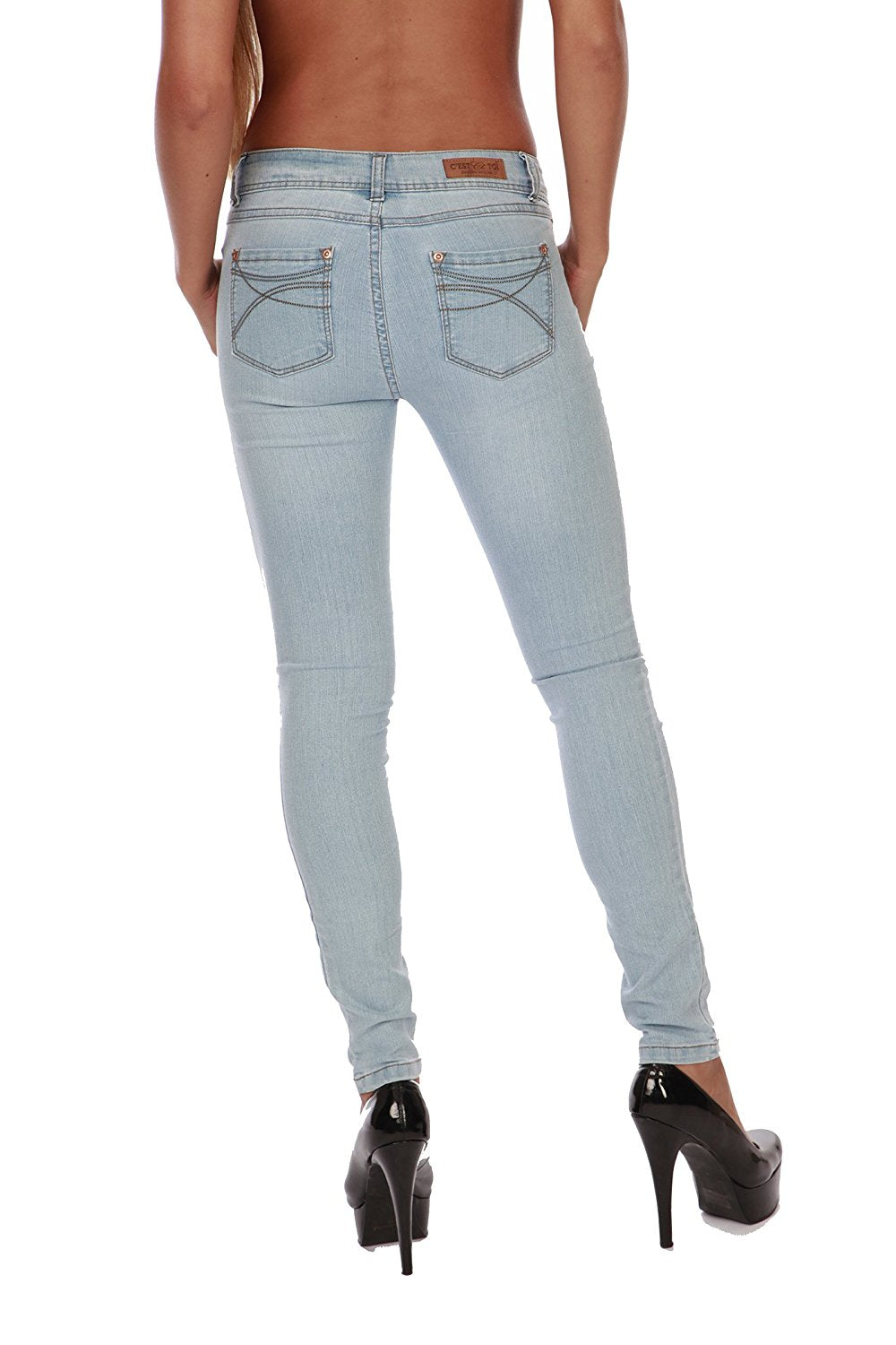 Hollywood Star Fashion Women's Basic Skinny Jeans Pants