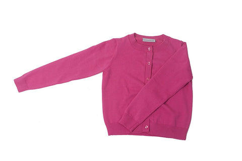 Khanomak Kids Girl Crew Neck Cardigan Sweater (Sizes 3T- 14 yrs)