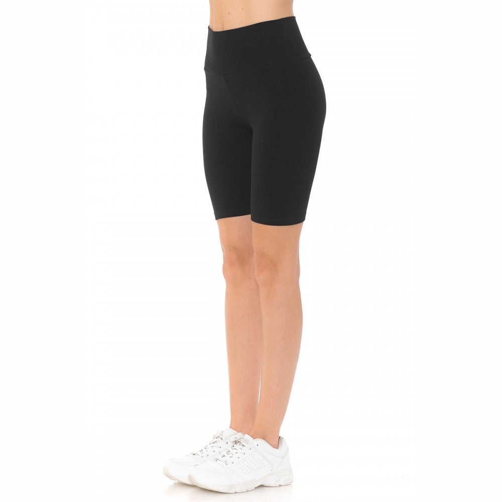 Women's High Waist Knit Bike Shorts