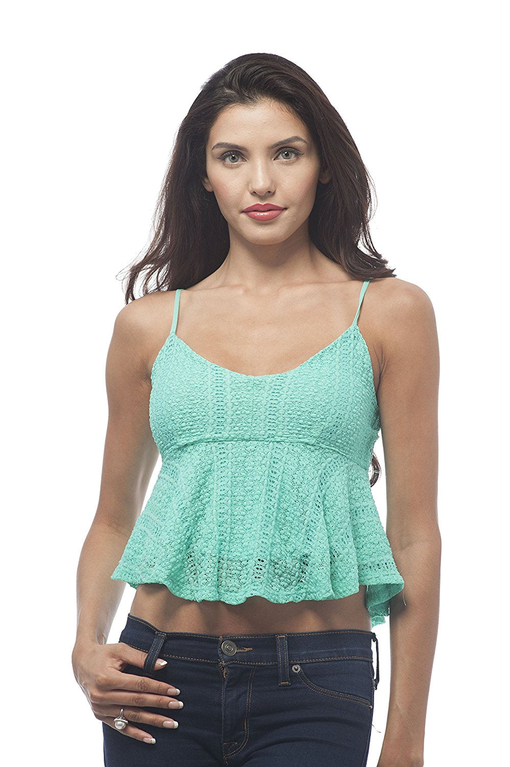 Hollywood Star Fashion Baby Doll cami Crop Top with adjustable straps