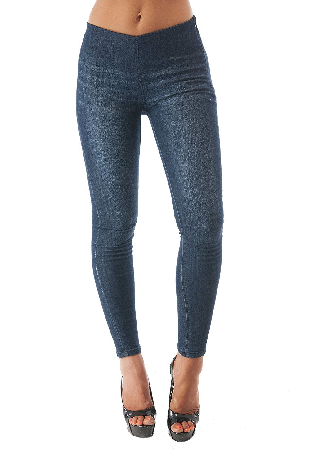Hollywood Star Fashion High Waisted Denim Jegging Pants