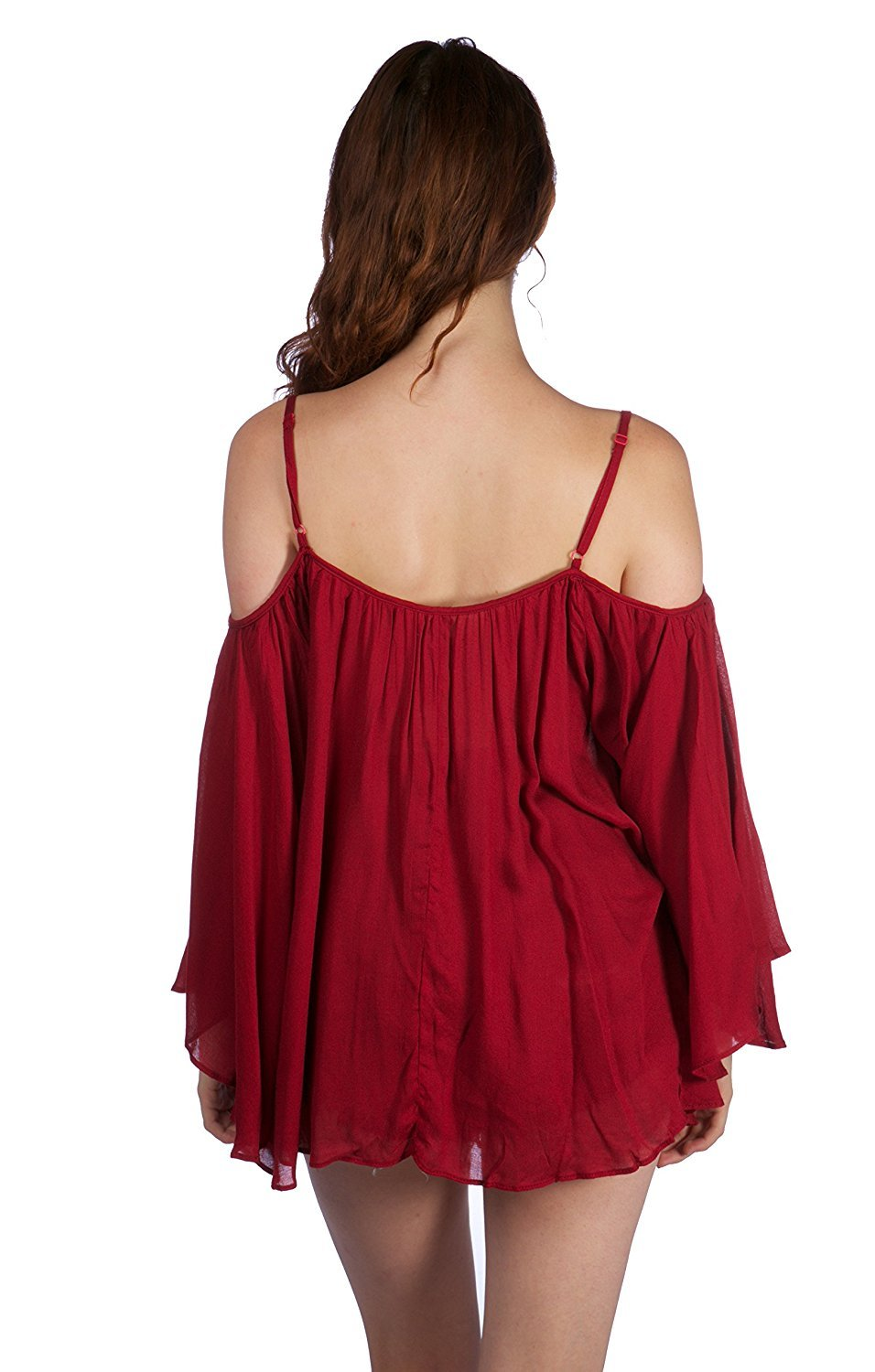 Bohemian Off Shoulder Top With Adjustable Straps and Wide Arm