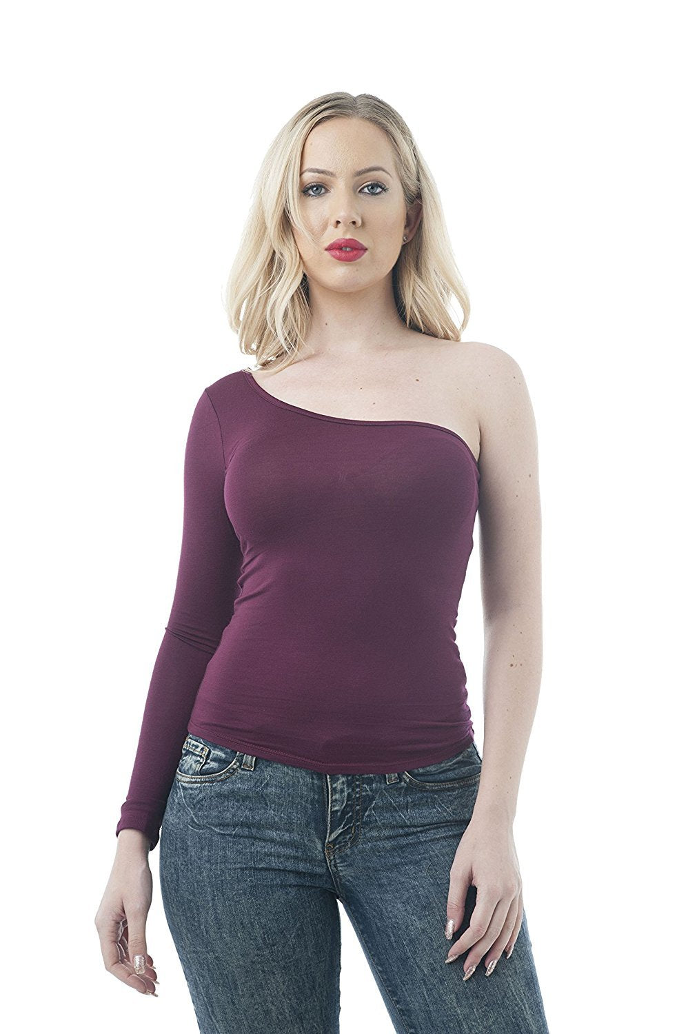 Khanomak One Sleeve Shoulder Top